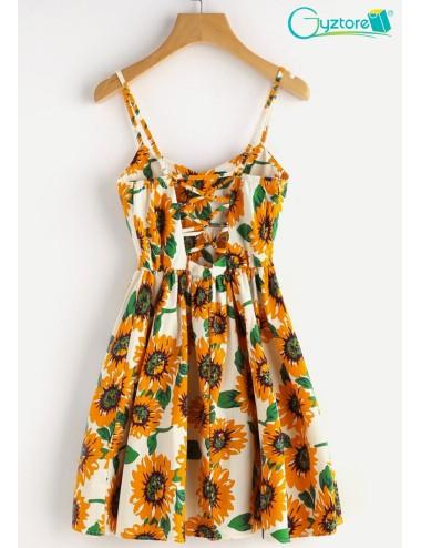 Vestido diseño de Girasoles