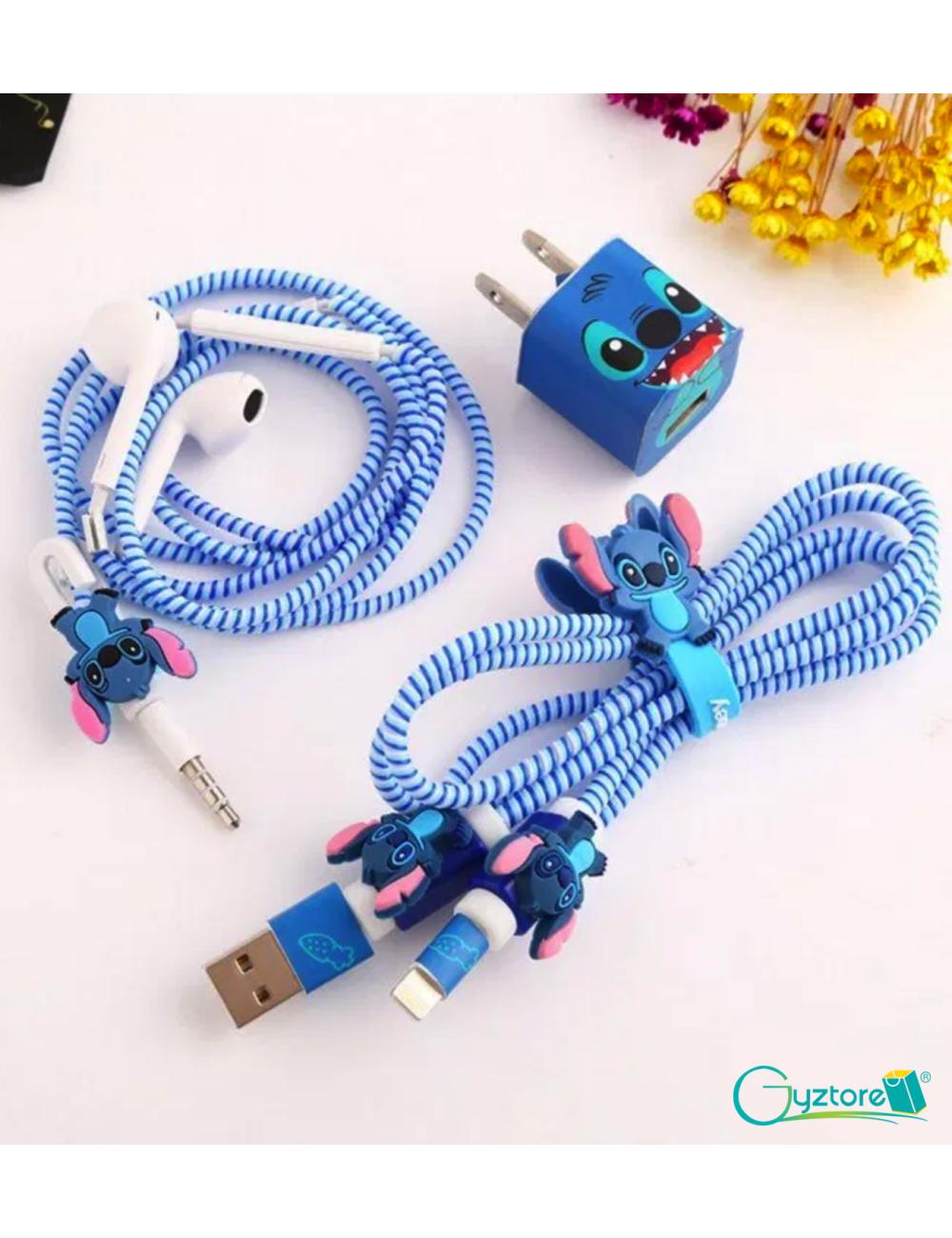 Juego protector para cables y estuche para audífonos