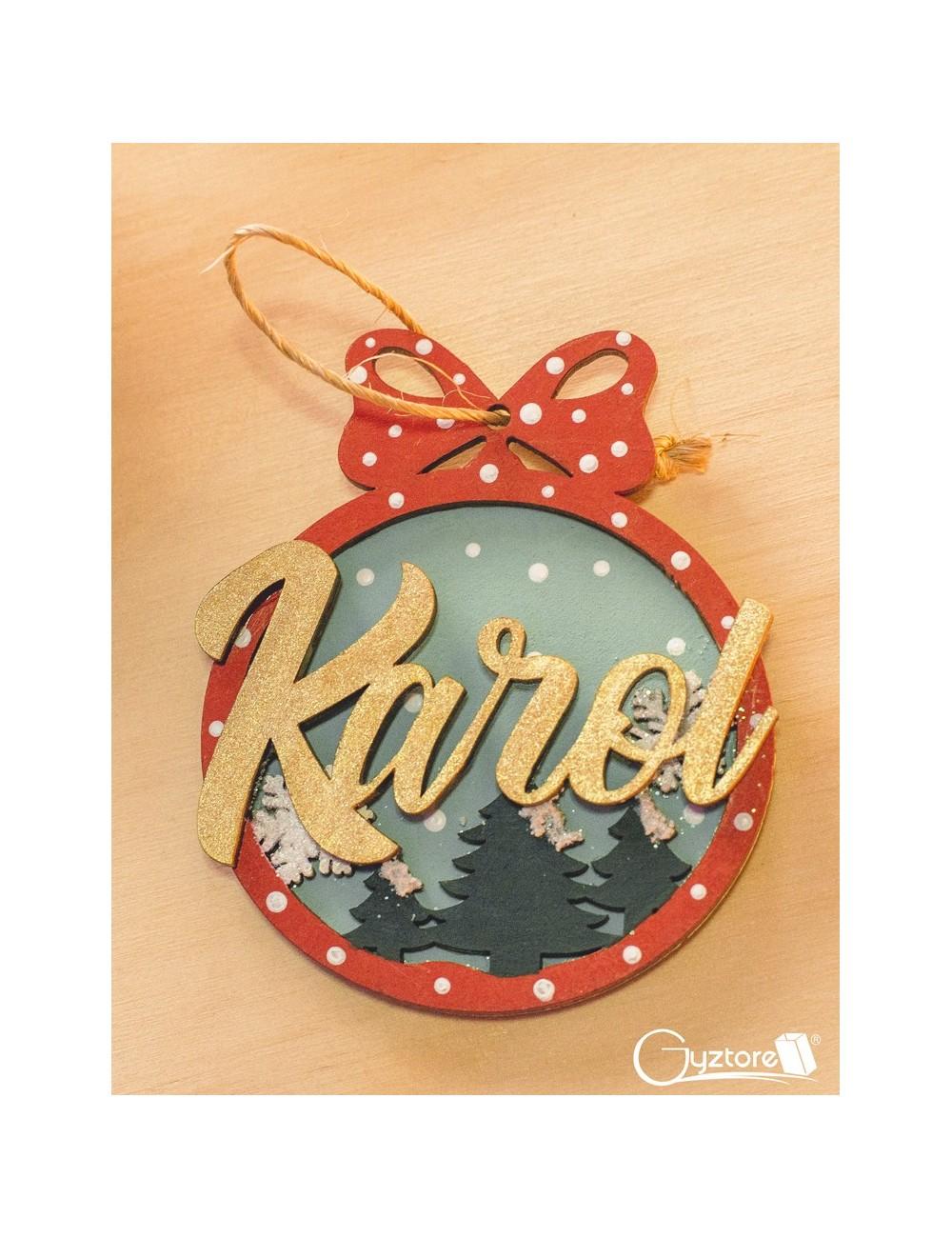 Bolitas navideñas de Madera