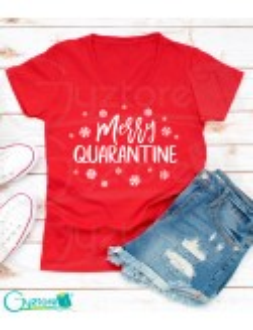 "Blusa roja ""Merry Quarantine"""