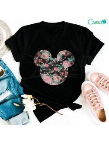 Camisetas Mickey Floreado