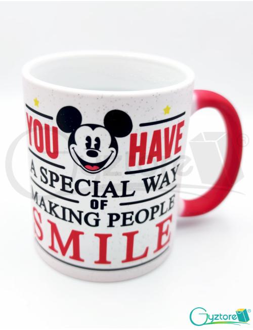 Taza mágica roja Mickey Mouse