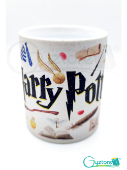 Taza mágica negra Harry Potter