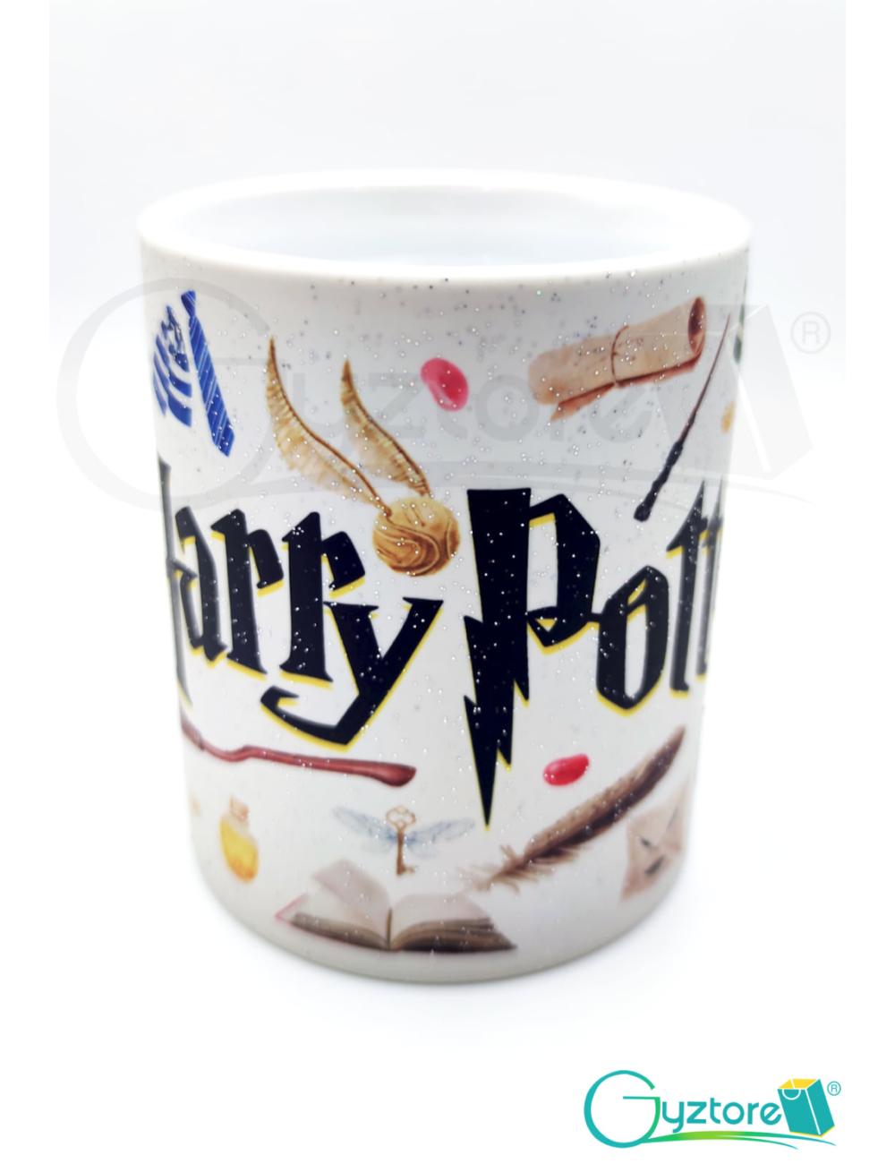 Taza mágica negra Harry Potter