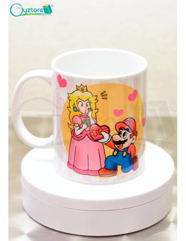 Taza para parejas Mario y su Princesa
