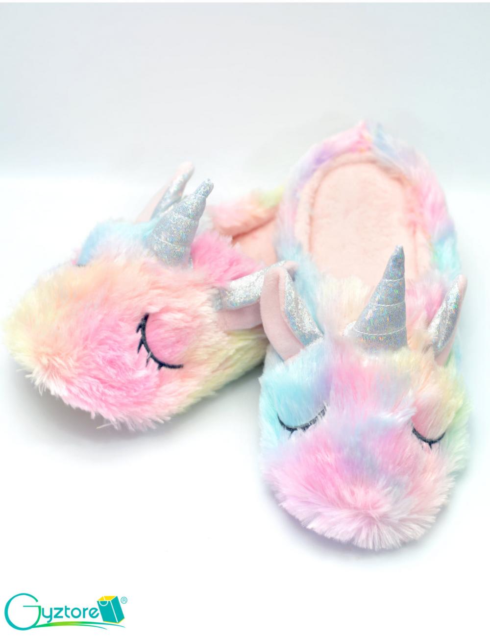 Pantuflas Unicornio colores