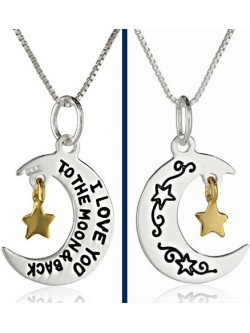 "Collar Moon Star ""I love you to the moon and back"""