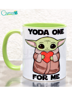 "Taza Baby Yoda ""No workee no coffee"""