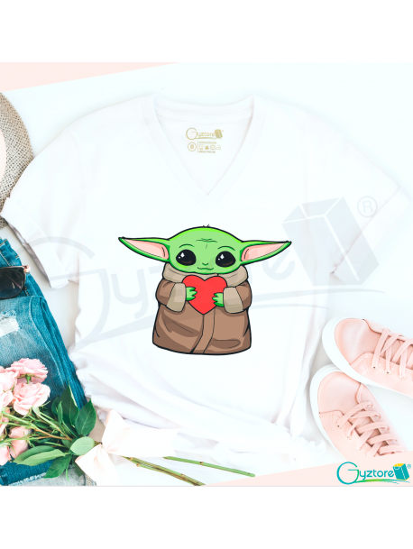 Camiseta Baby Yoda ''For you I'll be there''