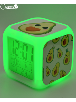 "Relojes digitales ""Aguacates"" con LED multicolor"