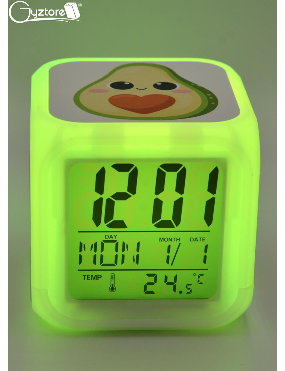"Relojes digitales ""Aguacates"" con LED multicolor"