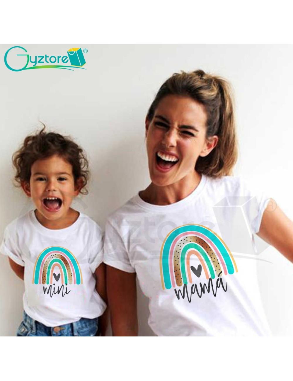 Camisetas Madre e Hija diseño Arcoiris