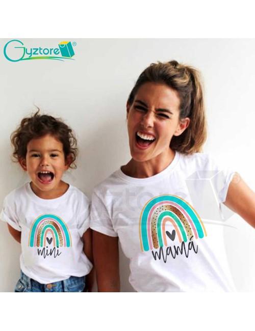Camisetas Madre e Hija diseño Arcoíris