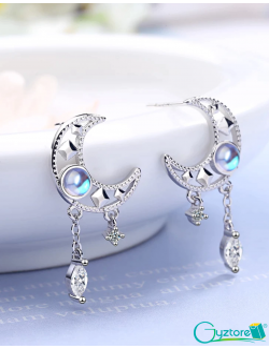 Aretes diseño de Luna