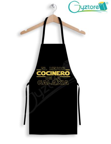 """Delantal StarWars """"El Mejor cocinero de la Galaxia"""""""