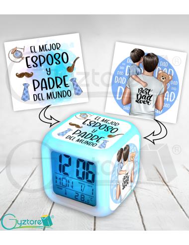 """Relojes LED digitales """"El Mejor esposo y Padre del Mundo"""""""