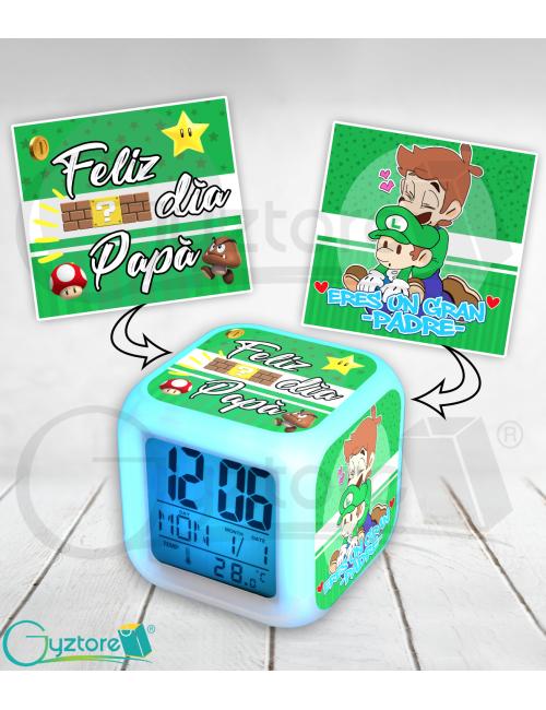 Relojes LED digitales para papá diseño de Luigi