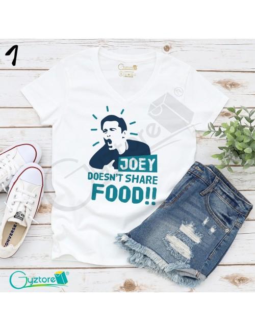 Camisetas blancas diseño de Friends