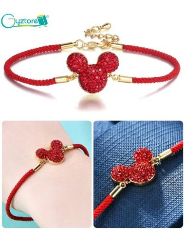 Pulseras rojas diseño de Mickey Mouse