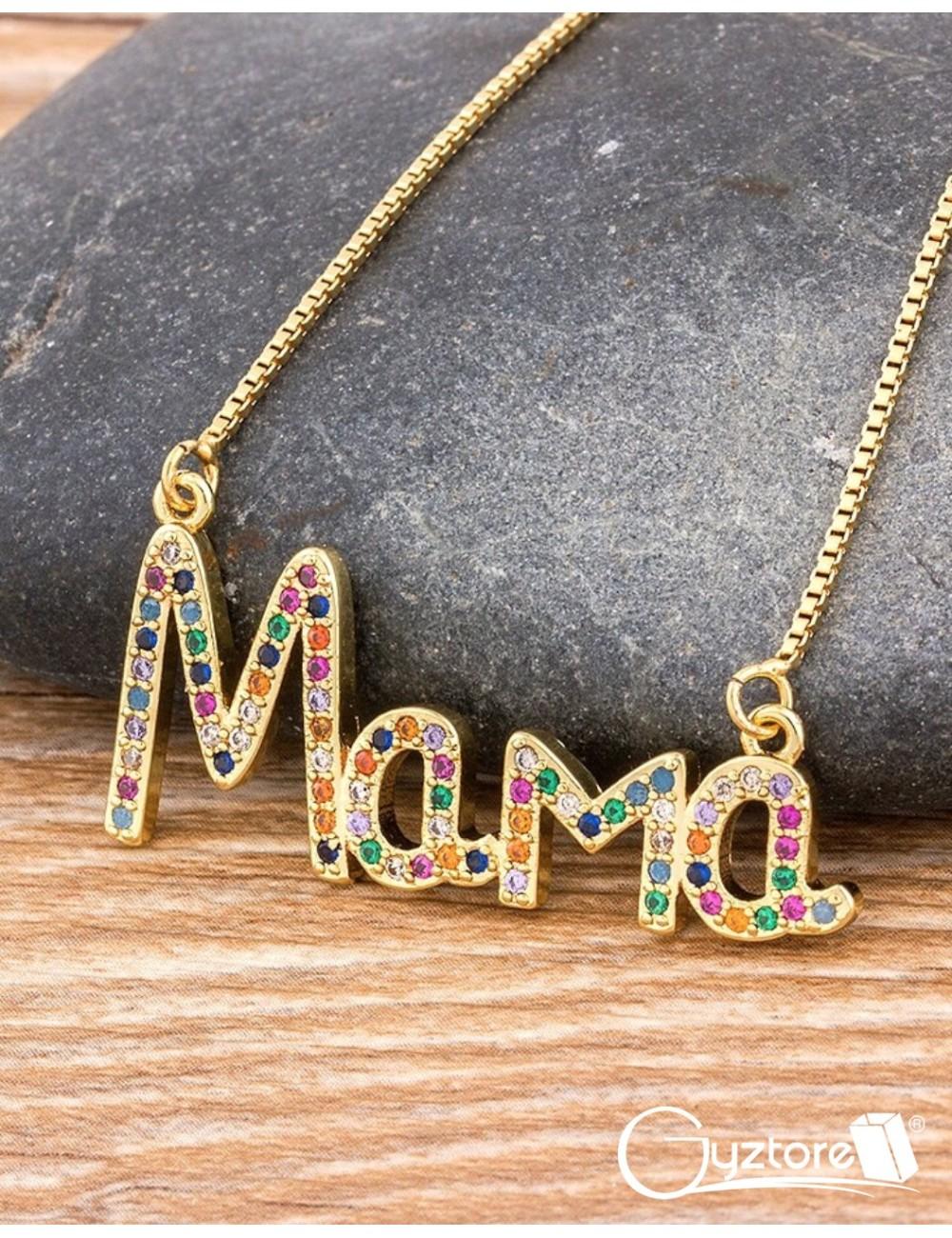 """Collar dorado """"Mamá"""""""