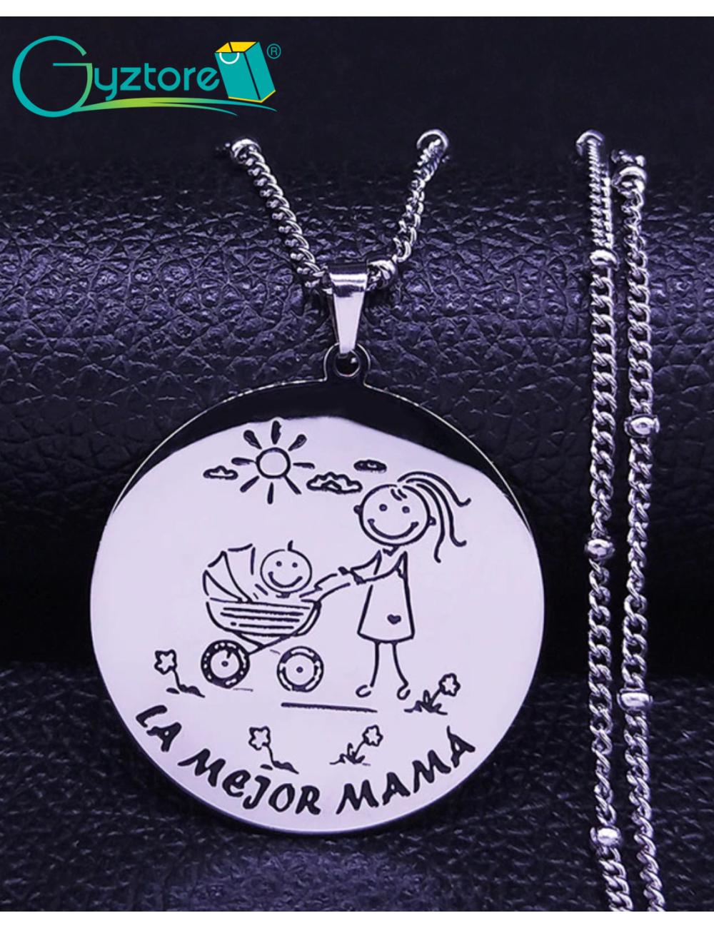 """Collar acero inoxidable """"La Mejor Mamá"""""""