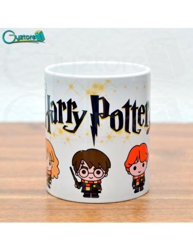 Taza blanca diseño de Harry Potter