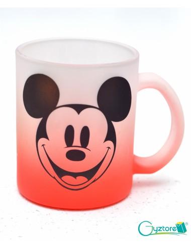 Tazas Glaseadas rojas diseño de Mickey