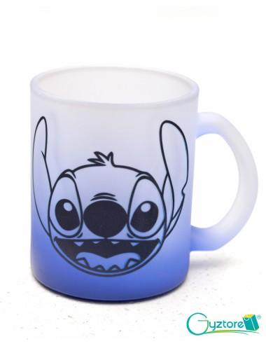 Tazas Glaseadas azules diseño de Stitch