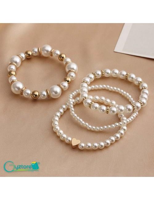 Set de pulseras de perlas