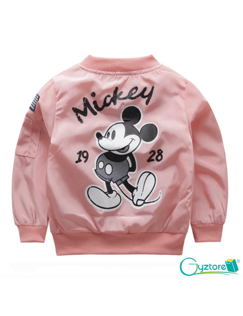 Jacket impermeable rosada diseño de Mickey