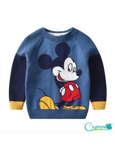 Abrigo azul de algodón diseño de Mickey