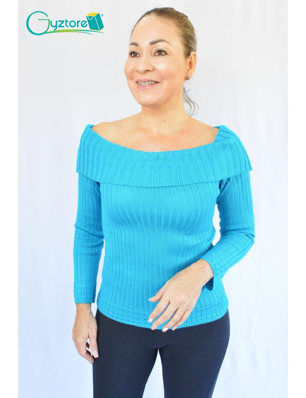 Blusa artesanal tejida a mano hombros descubiertos
